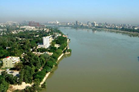 The Tigris River at Baghdad, Iraq, 2006. Source: James Gordan.