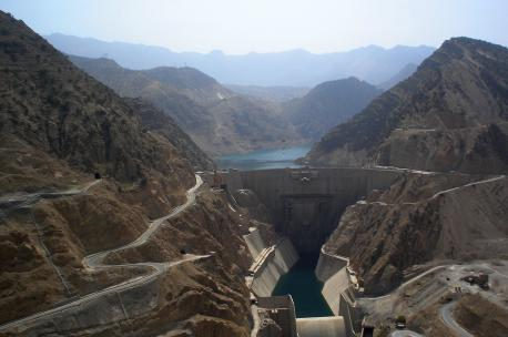 The Karun-3 Dam on the Karun River, Iran, 2008. Source: M. Samadi.