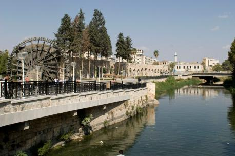 The Orontes in Hama, Syria, 2009. Source: Adel Samara.