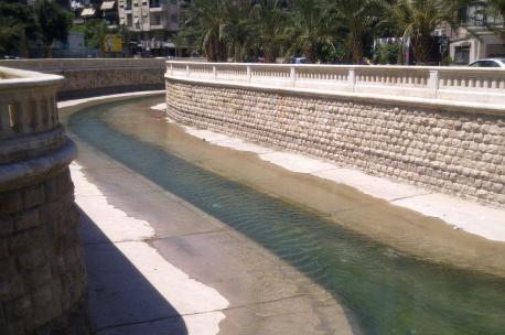 The Qweik River in Aleppo, Syria, 2012. Source: Harout Minassian.