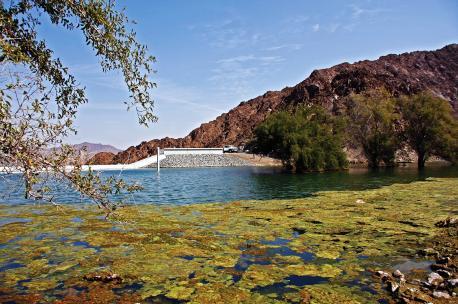 Lake Hatta in the Oman Mountains, UAE, 2010. Source: Maarten Schafer.