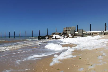 Sewage outflow on the Gaza coast, 2010. Source: Cara Flowers.