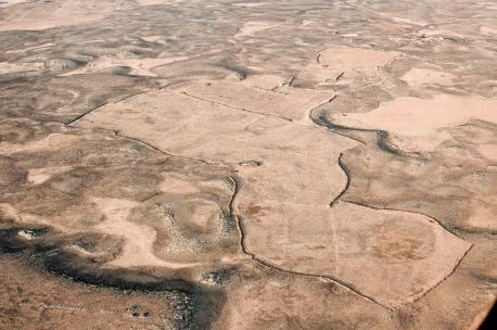 Basalt Desert, Jordan, 2005. Source: Robert Bewley, Aerial Photographic Archive for Archaeology in the Middle East.