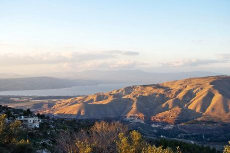 View of Lake Tiberias and the Golan Heights from Jordan, 2011. Source: Tamra Hays.