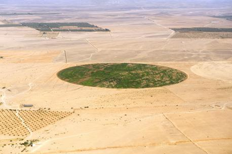 Agriculture in the area of Azraq, Jordan, 2009. Source: David L. Kennedy, Aerial Photographic Archive for Archaeology in the Middle East.