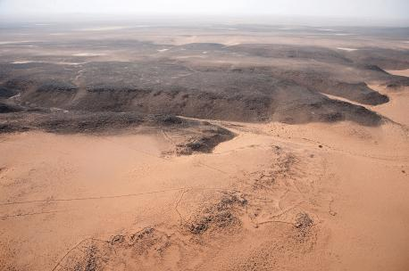 Area of Mafraq, Jordan, 2009. Source: Robert Bewley, Aerial Photographic Archive for Archaeology in the Middle East.